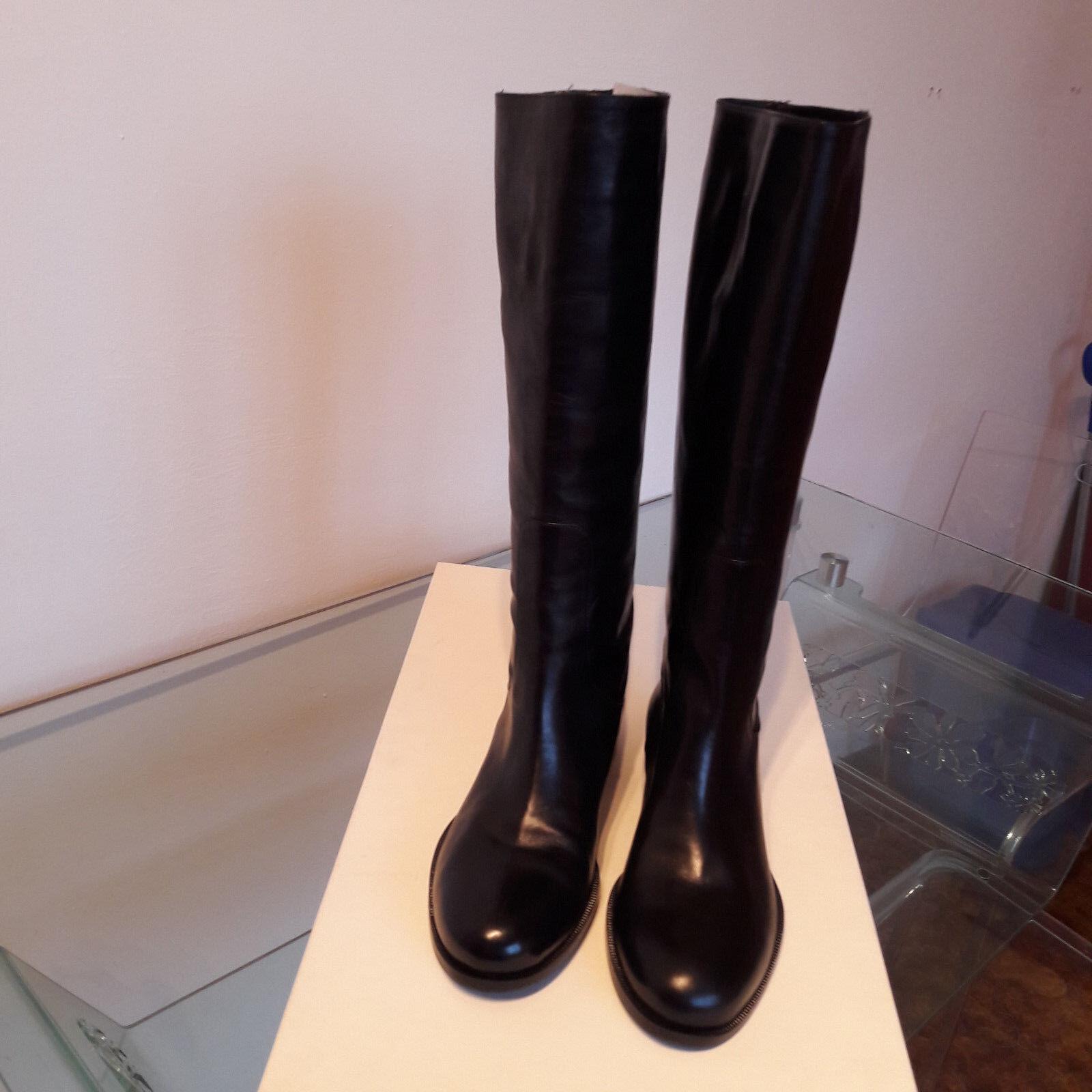 varie dimensioni Scarpa Scarpa Scarpa Stivale GUNEX (Brunello Cucinelli) pelle 100% nero (NUOVO)  vendita online