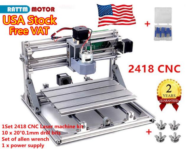 usa 3 axis diy 2418 laser machine mini cnc router milling engraver