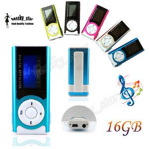 Brillante-LCD-Pantalla-USB-Clip-Reproductores-MP3-Player-Support-16GB-Micro-SD