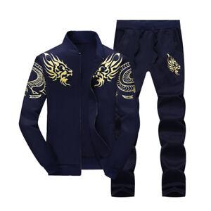 2PCS-Men-039-s-Sweater-Casual-Tracksuit-Sport-Suit-Jogging-Athletic-Jacket-Pants-Hot