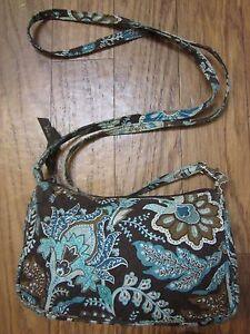 ee53561f67 Image is loading Vera-Bradley-Retired-Java-Blue-Small-Crossbody-Bag