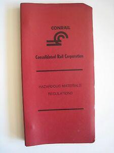 Vintage 1977 Conrail Railroad Hazardous Materials Regulations Rule Book Manual