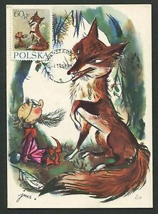 Animal Kingdom Romantic Polen Mk 1962 MÄrchen HeinzelmÄnnchen Fuchs Fairy Tales Maximum Card Mc Cm D6053 Non-Ironing