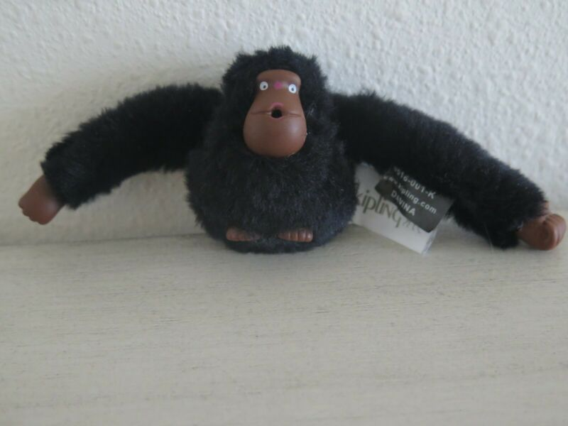 Purposeful Kipling Monkey Davina Keychain Gorilla Black Fob Key Ring Backpack Bag Charm