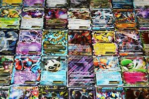 Pokemon-Trading-Card-Game-Carte-100-Lot-RARES-COM-UNC-Holo-amp-Garanti-EX-Mega-ou-full-art