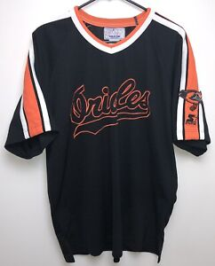 8a124175b51 Image is loading Vtg-90s-Starter-Baltimore-Orioles-Baseball-Jersey-Black-