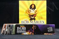5 Packs Authentic Bob Marley King Size Papers Pure Hemp Natural Gum