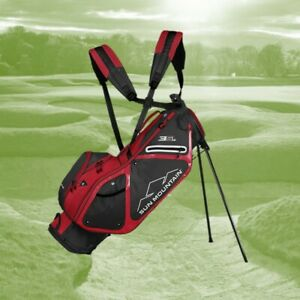 Sun Mountain Three 5 LS Stand Bag Steel-Red