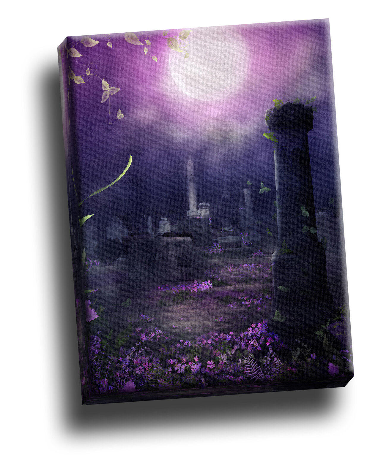 Beautiful Decay lila Gothic Giclee Canvas Picture Art Decoration