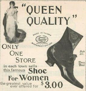 Queen Quality Shoes 1899 Women Designer Boston MA Vintage Print Ad