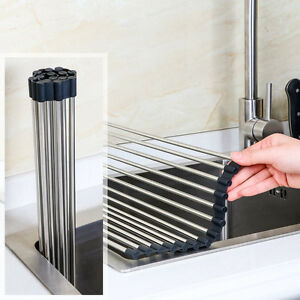 Lifewit Roll Up Folding Sink Dish Drying Rack Mat