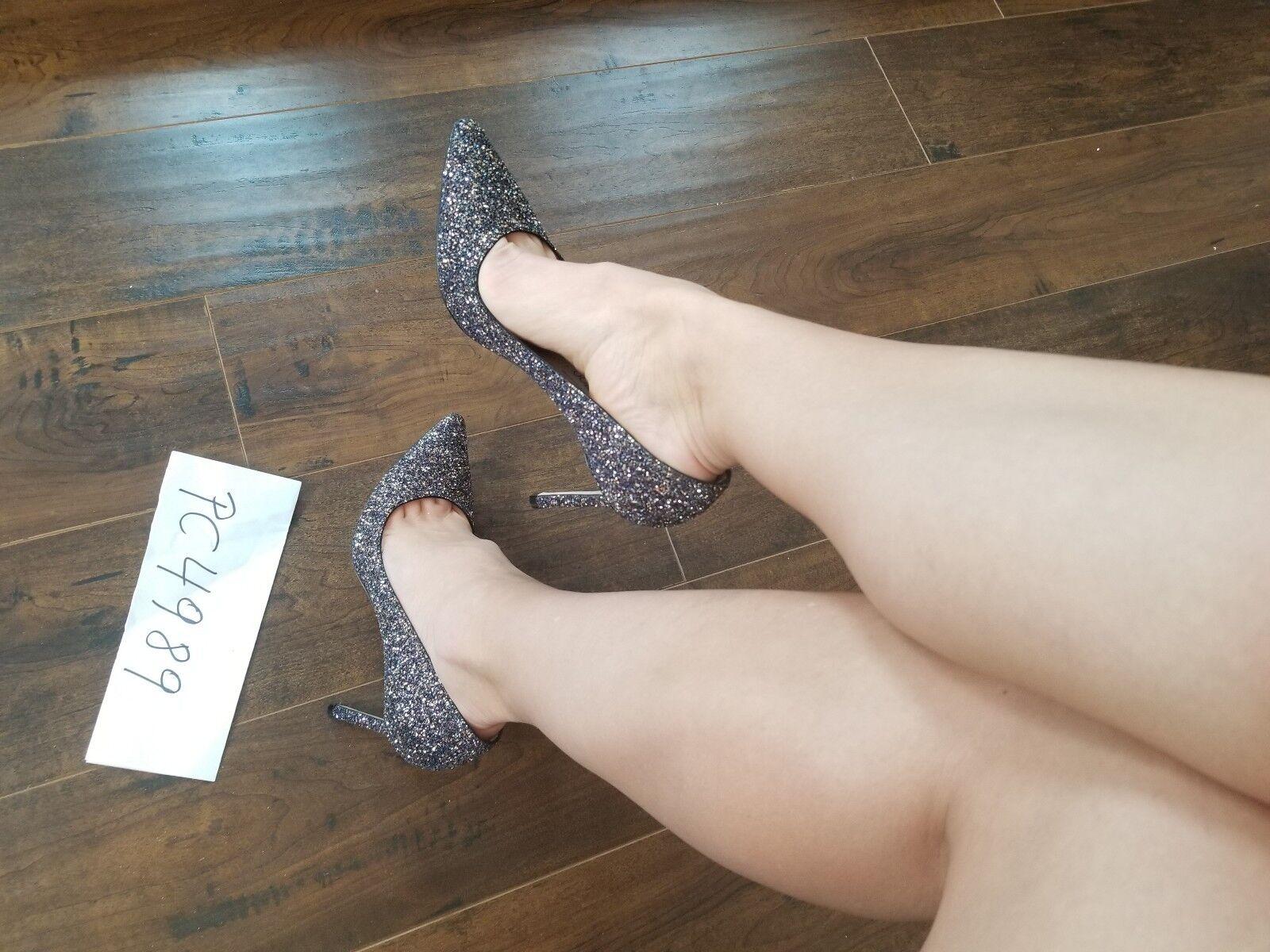 NWT Jimmy Choo ROMY Twilight Glitzy Heels Pumps Größe Größe Größe 39 US 8.5 9 receipt 9c0026