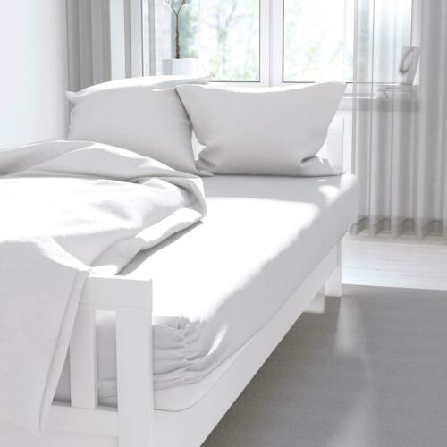 White Fitted Sheets 100/% Cotton 200 Thread Count 35cm Deep Luxury Bedding Sets