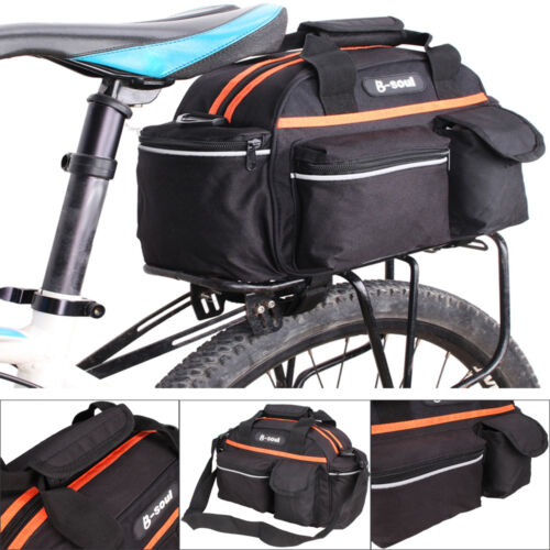 Waterproof Bicycle Bike Rear Seat Rack Storage Trunk Bag Handbag Pannier Cycling