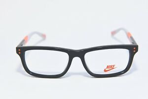 d96e4f903bc NIKE 5535 068 KIDS PLASTIC EYEGLASS FRAMES DARK GREY TOTAL ORANGE 48 ...