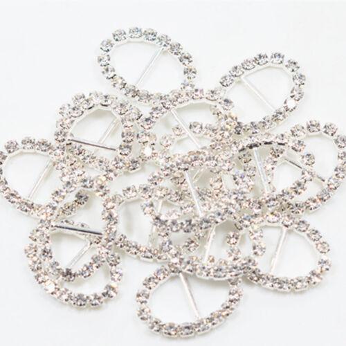 16x silberner ovaler Kristallwölbungs-Band-Schieber für
