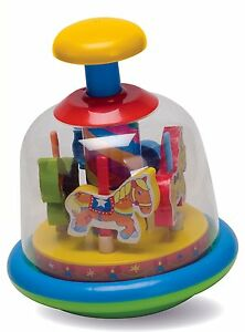 FUN-TIME-Baby-Toddler-Merry-Go-Round-Spinning-Horses-Spin-Top-Kids-Learning-Toy