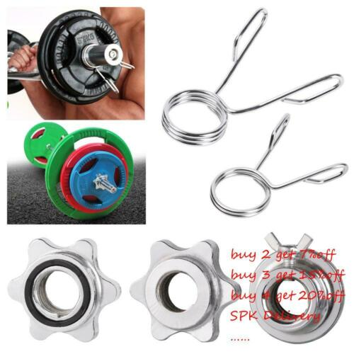 Olympic Check Nut Spin Lock Screw Barbell Bar Clips Dumbbell Spinlock Collars