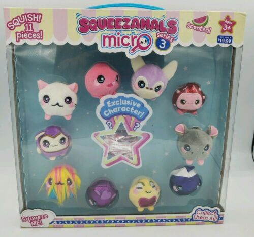 SQUEEZAMALS Micro Series 3 Scented New Set of 11 Brand New Fast Free Shipping!