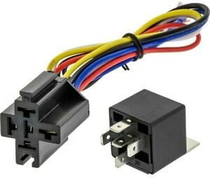 12V 30//40 Amp DC 5Pin Car SPDT Automotive Power Relay with Wires Harness Socket