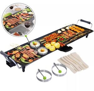 Image Is Loading Xl Huge Long Electric Teppanyaki Table Grill Griddle