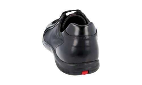 8 in Prada 4e2439 42 Sneaker 42 Scarpe nylon pelle di 5 Nuovo di nera Nuovo lusso TfqxAAw47X