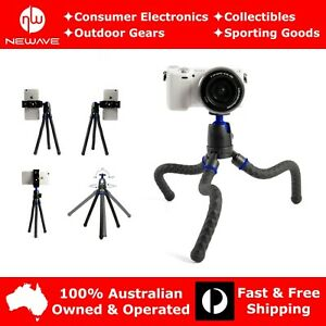NEWAVE-Handheld-Flexible-Tabletop-Camera-Phone-Tripod-Stand-w-Bluetooth-Shutter