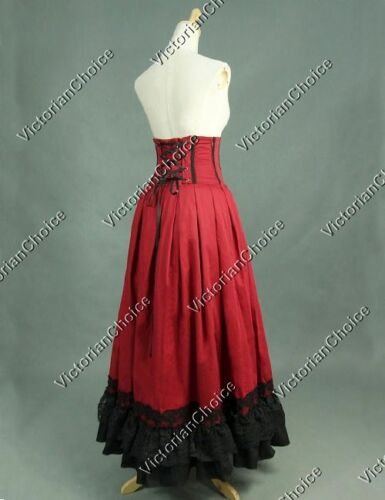 Steampunk Skirts | Bustle Skirts, Lace Skirts, Ruffle Skirts    Gothic Edwardian Sexy Vampire Walking Skirt Punk Theater Halloween Costume K035 $89.99 AT vintagedancer.com