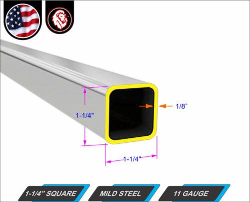 "Mild Steel 1-ft 1//8/"" Wall 11-gauge 1-1//4/"" Square Tube 12/"" Long"