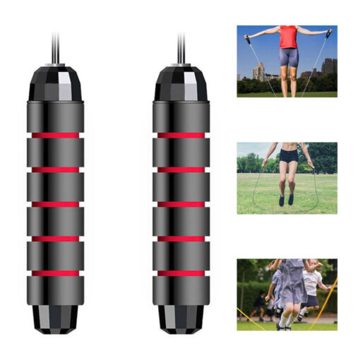 Tangle-Free with Ball Bearings Rapid Speed Jump Rope Exercise and Fitness DW