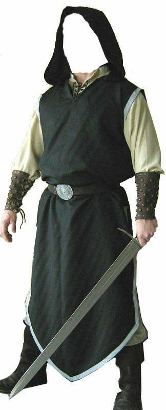 Black Color Medieval Viking Renaissance Clothing Tunic For Reenactment Theater