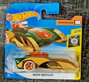 Mattel-Hot-Wheels-Rockin-039-Santa-Trineo-Nuevo-Sellado