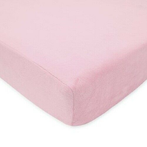 New 1 Qty Fitted Sheet Extra Depth 100% Pima Cotton 1000 TC Pink Solid