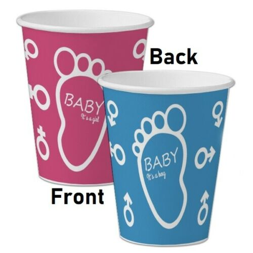 Party Stock Gender Reveal Paper Cups