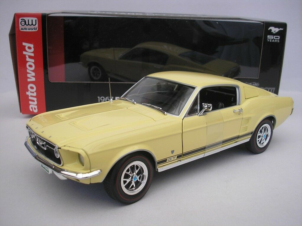 Ford mustang gt 2 + 2 - 1976 gelb 1   18 ertl autoworld 00520 neu