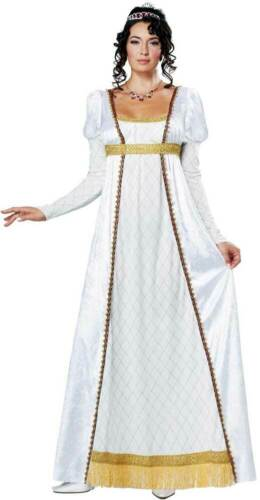 Josephine French Empress Adult Women Costume Floor Gown Accent Gold Trim Belt