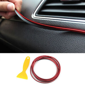 5M-Red-Car-Trims-Line-Strips-Car-Styling-Door-Air-Outlet-Decorative-Sticker