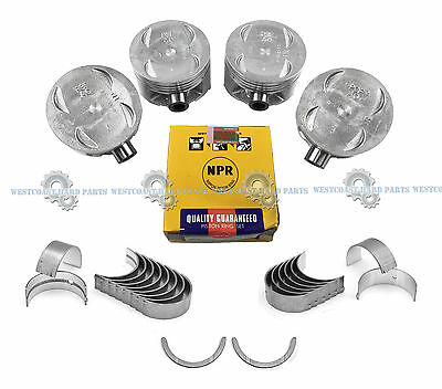NEW 97-98 Honda CR-V 2.0L DOHC 16V B20B4 ENGINE PISTONS WITH RINGS KIT 1 SET