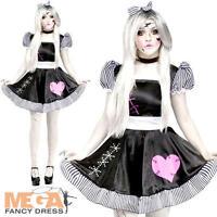 Broken Rag Doll Ladies Fancy Dress Halloween Dolly Adults Womens Horror Costume