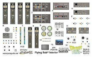 FLYING SUB INT DECAL MOE 115 PARAGRAFIX 1//32 VOYAGE TO THE BOTTOM OF THE SEA