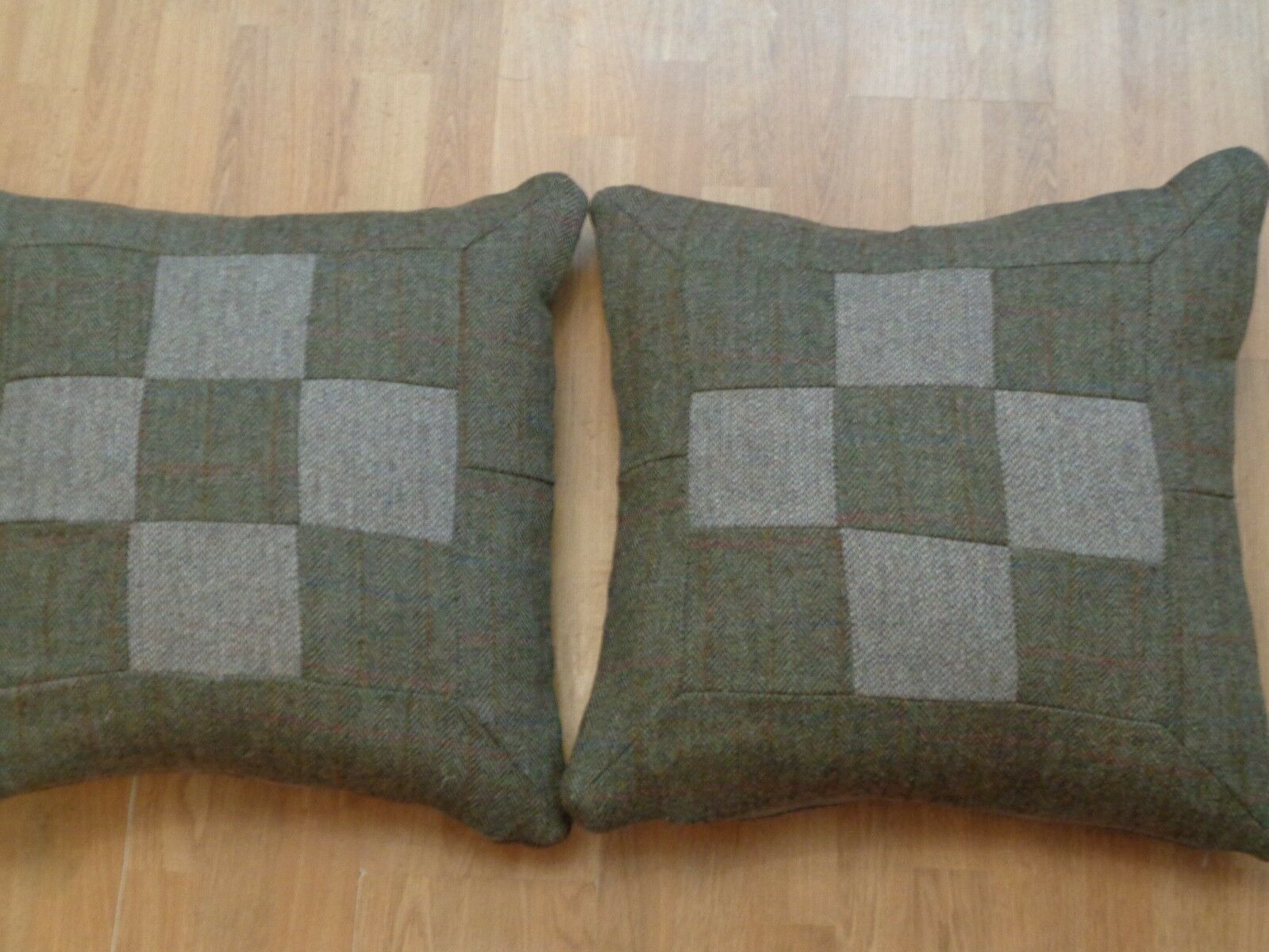 Harris COMPLETE Tweed COMPLETE Harris Cushions Herringbone/Barley patchwork 22 pouces 1a1c85