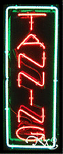 """BRAND NEW """"TANNING"""" 32x13 VERTICAL BORDER REAL NEON SIGN w/CUSTOM OPTIONS 10335"""