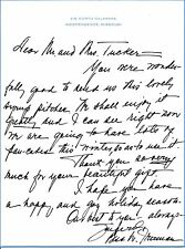 Bess Truman thaks a friend for a holiday gift in an undated autograph letter