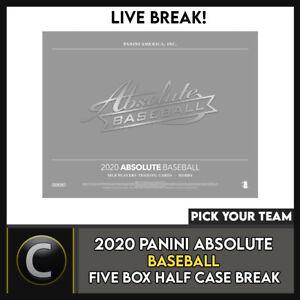 2020 PANINI ABSOLUTE BASEBALL 5 BOX (HALF CASE) BREAK #A877 - PICK YOUR TEAM