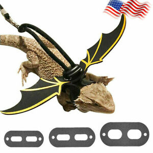 Reptile-Lizard-Gecko-Bearded-Dragon-Harness-And-Leash-Strap-top-Adjustable-P6T3