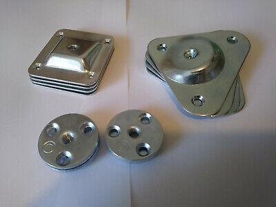 Set Of 4 Leg Fixing Mounting Plates Brackets Level