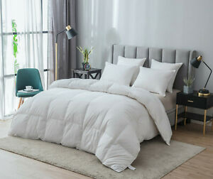 Natural-White-Goose-Down-All-Seasons-Warm-Comforter-Fluffy-Lightweight-King