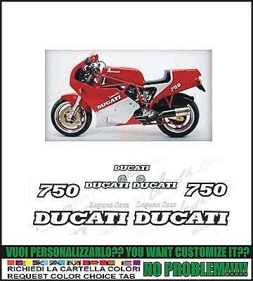 kit adesivi stickers compatibili  750 f1 desmo