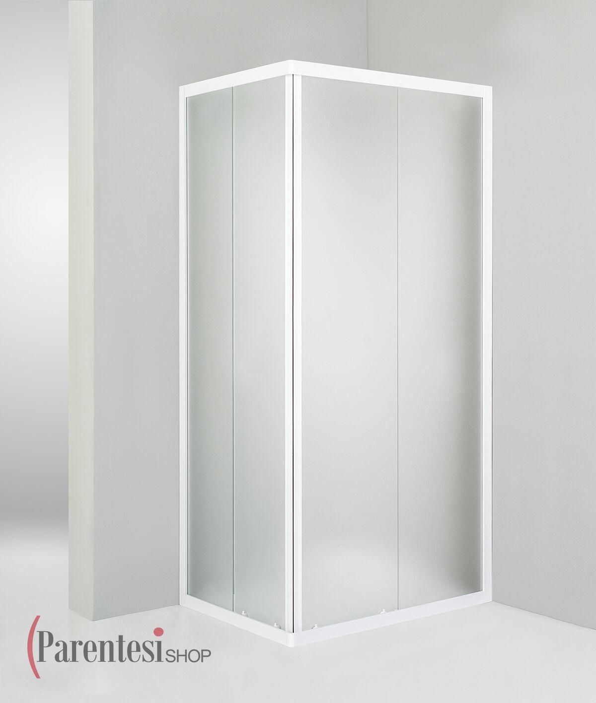 Box Box Box doccia cristallo4mm cabina scorrevole bagno opaco 70x90 rettangolare bianco | Le Prix De Marché  c14741