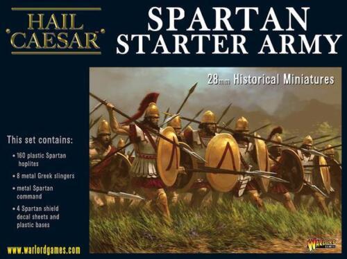 WARLORD GAMES ave César Entièrement neuf dans sa boîte Spartan Starter WGH-109914801 armée